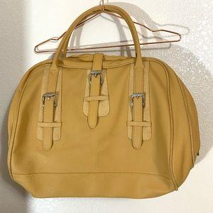 Estée Lauder | EUC Yellow Large Travel Purse Bag